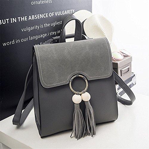 MSZYZ Personalidad de la Moda Femenina Todo matchbackpack Bolsa,Negro,30 * 27 * 9CM. gray
