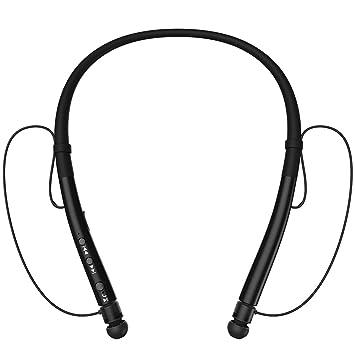 Amazon.com: DolTech [actualizado] Auriculares Bluetooth inalámbricos con Banda para el Cuello, retráctiles, deportivos, a prueba de sudor, estéreo, ...