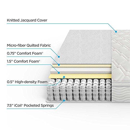 Zinus Ultima Comfort 10 Inch Pillow Top Spring Mattress,Queen