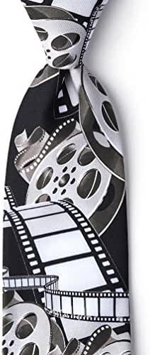 Film & Movie Reels White Microfiber Tie