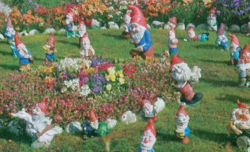 Colorluxe 1000 Piece Puzzle - Garden Gnomes, Falkland Islands, South America by LPF