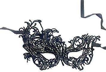 Hoveey - Máscara de encaje negro con diseño de bola de cisne ...