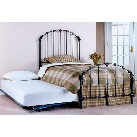 Hillsdale Furniture 346BTWHTR Bonita Bed Set With Rails And Trundle Twin Copper Mist