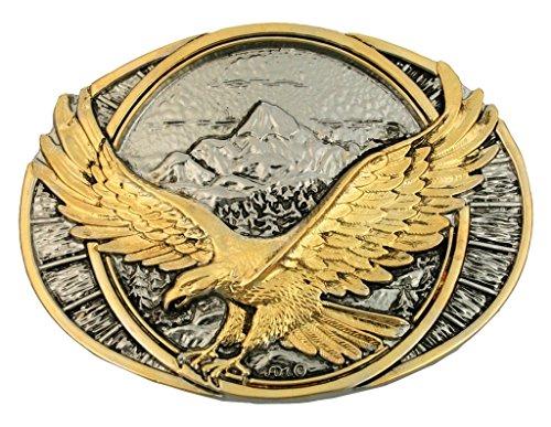 Montana Silversmiths Men's Soaring Eagle Belt Buckle Silver One Size Eagle Belt Buckle