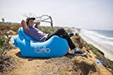 WindPouch Chill 2.0 | Inflates in 10 Seconds! | No Pump Needed Inflatable Air Chair Lounger | Portable Lightweight Extremely Durable | Perfect for Festivals & Beach (Seaside Blue)