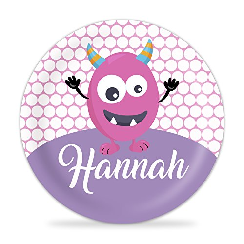 - Monster Plate - Pink Monster Melamine Personalized Name Plate
