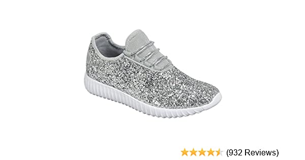 Women's Fashion Sneaker Remy Low Up Forever Top Glitter Lace Link 18 5zqzxgT4