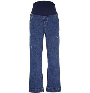 huateng Maternité Printemps Eté Nouveau Jeans Pantalons Enceintes, Jambe  Droite lâche Mode Grande Taille Jeans 4c66111bb0a4