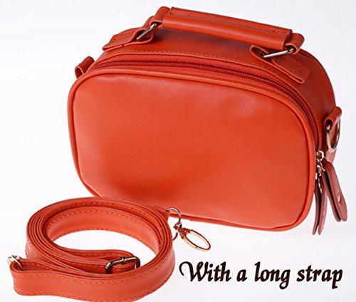 Bolsa bolso - PU cuero bolsos Tote ligero trabajo ocasional Bag(Orange) All4you mujeres Naranja