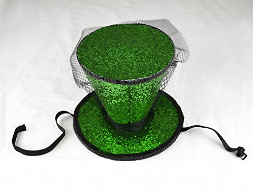 Green Glitter Top Hat (St. Patrick's Day Green Glitter Top Hat)