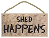 Wooden Decorative Pet Sign: Shed Happens | Dogs, Gifts, Decorations