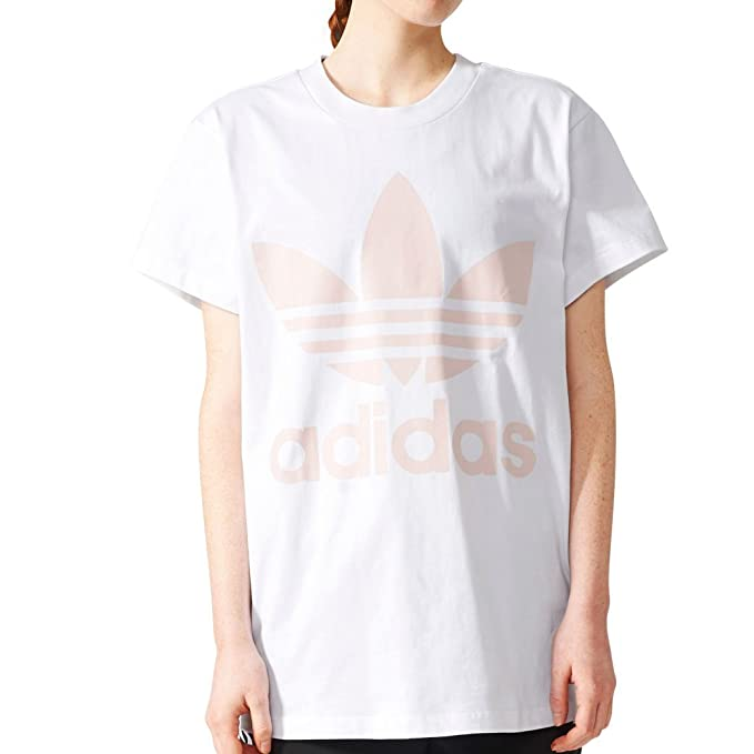 3530a1eaab84 adidas Originals Women's Big Trefoil Tee White/Icey Pink T-Shirt:  Amazon.ca: Clothing & Accessories