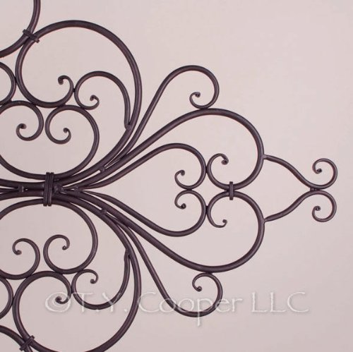 Wrought Iron 42'' x 35'' Wall Décor Grille