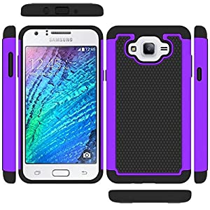 Galaxy J7 Case, NOKEA [Shock Absorption] Hybrid Armor Defender Protective Case Cover for Samsung Galaxy J7 (2015) by thick decal green zagg screen protector back invisible shield black color 3 pack asahi all around edge to edge front and back 10 pack 2 pa