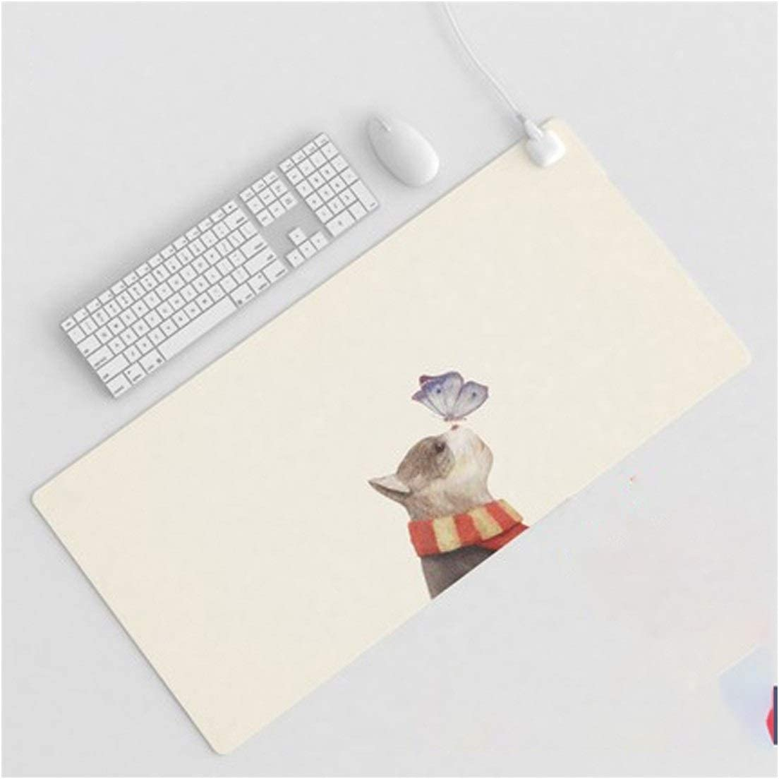 Waterproof and Leakproof Intelligent Timing Warm Table Mat Oversized Heating Mouse Pad Office Computer Desktop Student Writing Pad 15 Seconds Fast Heating Color : D