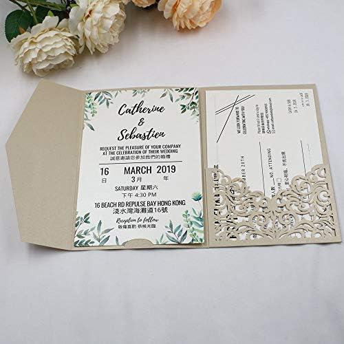 Cheap pocketfold wedding invitations _image0