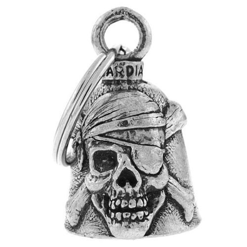 PIRATE Guardian Bell Motorcycle - Harley Accessory HD Gremlin NEW Riding Bell Key Ring Mod Dyna FXR Custom Triumph Heritage Sportster Chopper 1200 Iron 880 Vulcan Goldwing Honda Yamaha Kawasaki Sport Street Road Warrior