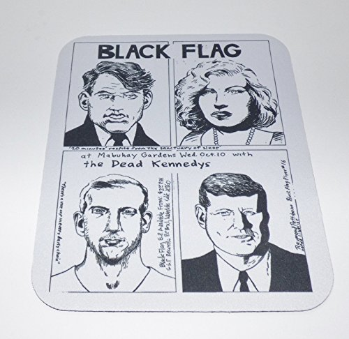 BLACK FLAG Dead Kennedys COMPUTER MOUSEPAD (Punk Rock Mouse Pad)