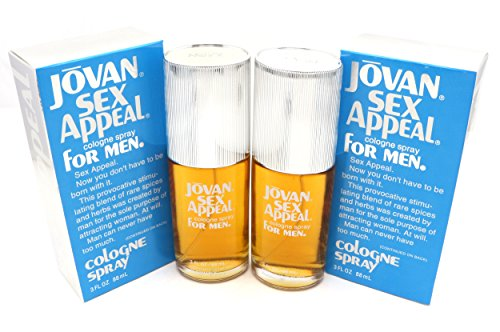 Sex Appeal Classic By Jovan For Men Cologne Spray Pack Of 2 x 3 oz
