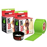 RockTape Kinesiology Tape for Athletes - 2-Roll Gift Pack, H2O Lime Green