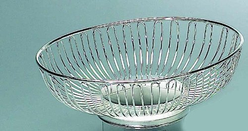 Buy elegance silver silver oval wirebasket