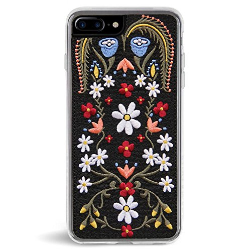Embroidered Phone Case (Zero Gravity Apple iPhone 7 Plus / 8 Plus Laurel Phone Case - Embroidered Flowers Design - 360° Protection, Drop Test Approved)