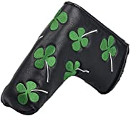 HIFROM Golf Putter Head Cover Headcover Shamrock Embroidered Blade Fit All Brands