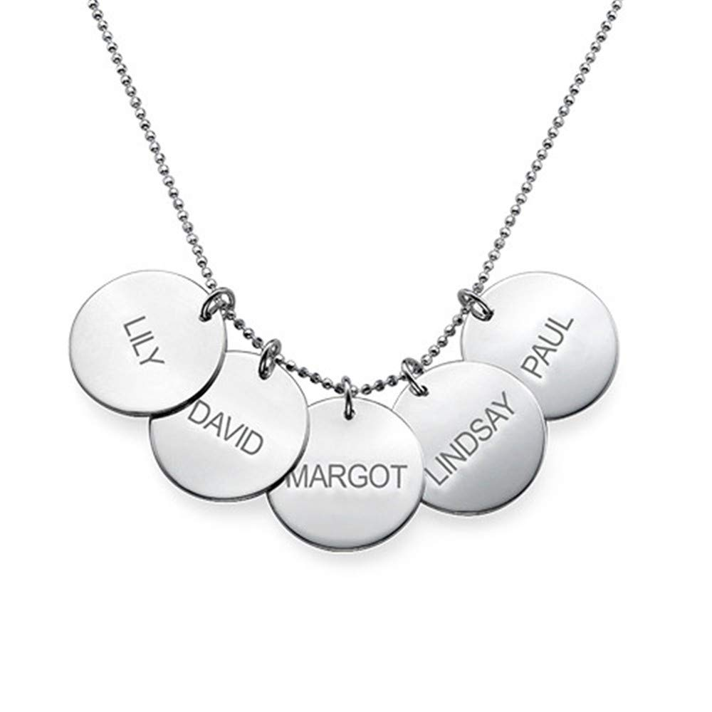 Jumping Birthstone Custom Name Necklace Personalized Necklace Love Jewelry Personalized Necklace