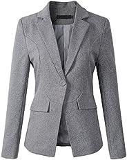 Beninos Womens Formal One Button Boyfriend Blazer Jacket