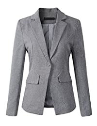 Womens Formal One Button Boyfriend Blazer Jacket