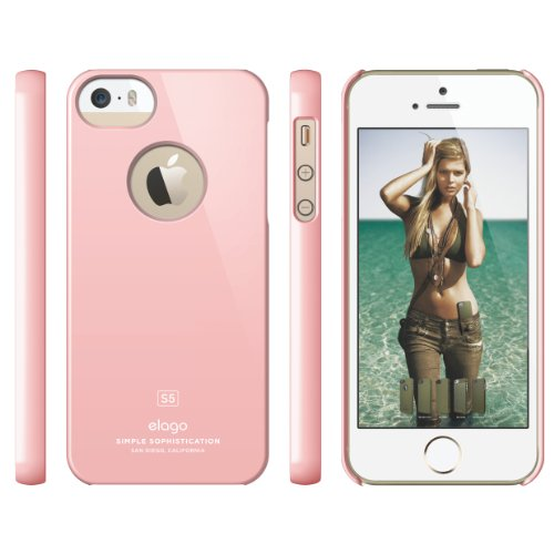 elago S5 Slim Fit Case for iPhone 5 + HD Professional Extreme Clear film included - Full Retail Packaging - Lovely Pink