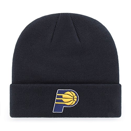 fan products of NBA Indiana Pacers OTS Raised Cuff Knit Cap, Navy, One Size