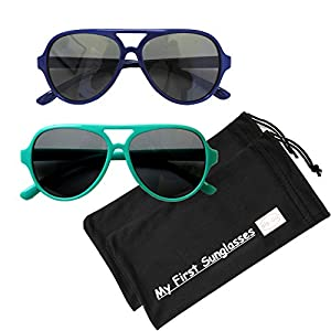 MFS-Aviators-120mm-Lil' Aviators-(Polarized)- Navy Blue and Teal -2 Pack