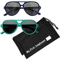 Mis primeras gafas de sol, estilo aviador. Gafas para sol 100% a prueba de UV para bebés, niños y adultos, muchas opciones de color