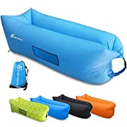 #LightningDeal 91% claimed: Inflatable Lounger, Vansky 2.0 Inflatable Couch Hammock Portable Air Chair Air Filled Beach Lounger, Nylon Fabric Hangout Sofa Bag, Outdoor or Indoor Inflatable Chair for Camping,Beach,Park,Backyard