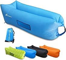 Inflatable Lounger, Vansky 2.0 Inflatable Couch Hammock Portable Air Chair Air Filled Beach Lounger, Nylon Fabric Hangout Sofa Bag, Outdoor or Indoor Inflatable Chair for Camping,Beach,Park,Backyard