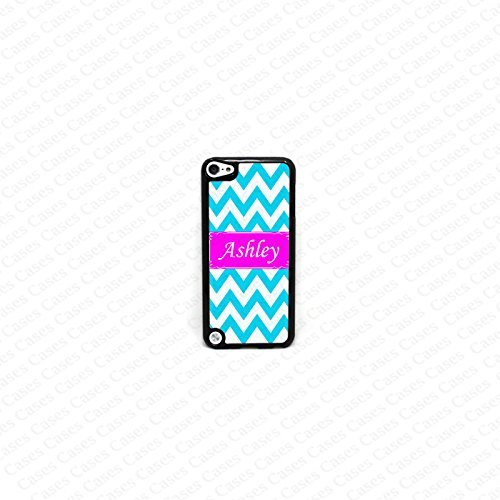 Krezy Case Monogram iPod Touch 5 Case, Colorful Chevron Pattern Monogram iPod 5 Case, Monogram iPod 5 case, iPod 5 Cover