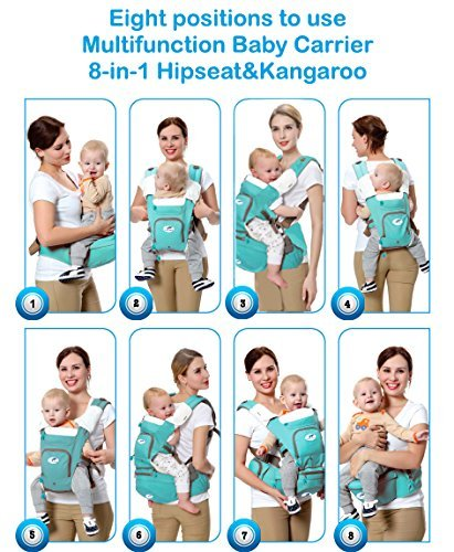 Amazon Com Multifunctional Baby Carrier 8 In 1 Hip Seat Kangaroo