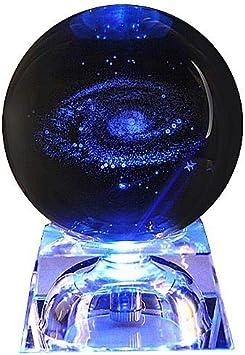 Sistema Solar Bola De Cristal Con Iluminación Base 3D Grabado Con ...