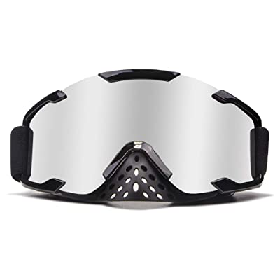 4-FQ PU Resin Windproof Dustproof Motocross Gogges CRG Sport Scratch Resistant Dirt Bike Goggles Adult Motorcycle Goggles ATV Goggles Riding Goggles Wrap Goggles Ski Goggles Protective Safety Glasses: Automotive