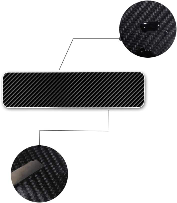Longzhimei Car Door Sill Protector Door Sill Guard 4D Carbon Fiber Stickers Anti-Scratch for A udi A1 A3 A4 4Pcs