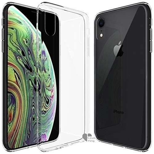 iPhone Xs Max Case,iPhone Xs Max Cover Love Ying [Crystal Clear] Ultra[Slim Thin][Anti-Scratches] Flexible TPU Gel Rubber Soft Skin Silicone Protective Case Cover for Apple iPhone Xs Max-Clear