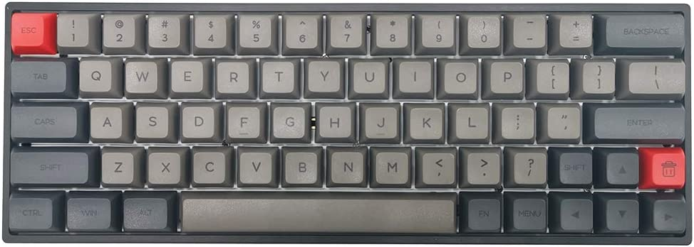 SK61 Black Bluetooth 5.1 NKRO Gateron Optical Axis RGB Backlight Wireless Wired Dual Mode Mechanical Gaming Keyboard (61 Keys, Gateron Brown Switch)