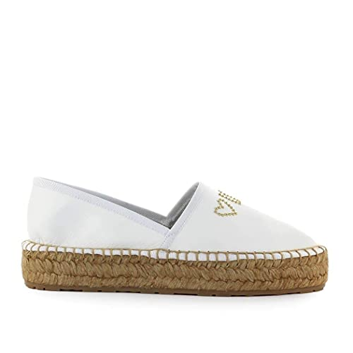addd6279c752e Love Moschino Women's JA10163G07JB0100 White Leather Espadrilles ...