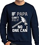 img - for TeeStars - If PAPA Can't Fix It No One Can - Gift for Father's Day Sweatshirt XX-Large Navy book / textbook / text book