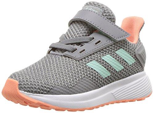 adidas Performance Baby Duramo 9 Running Shoe, Grey Heather/Clear Mint/Granite, 4K M US Toddler