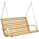 AMANKA Hollywood Swing, Garden Bench, Wooden Bench made of Larch, Swinging Bench with Attachment