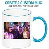 Create a Custom 11oz Blue Trim Mug