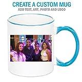 Personalized Blue/White Handle Photo Mug Deal