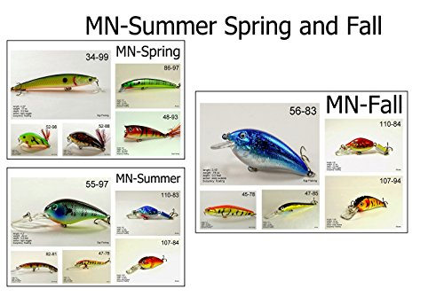 Akuna Seasonal Lures for Bass Fall Fishing for Each of